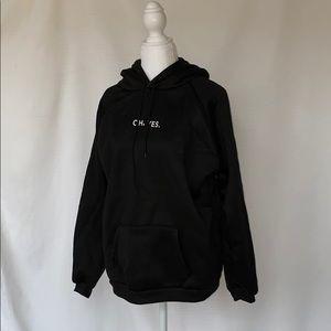 Black minimalist hoodie